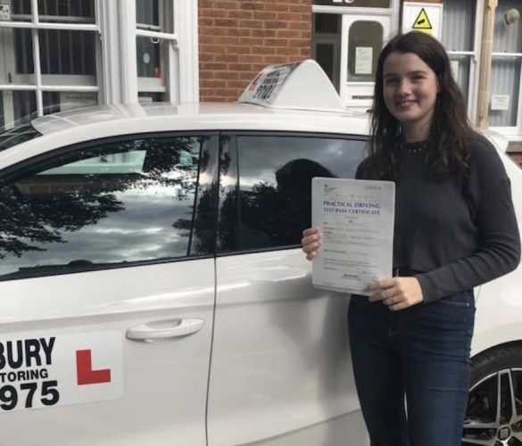 Lucy passing her test